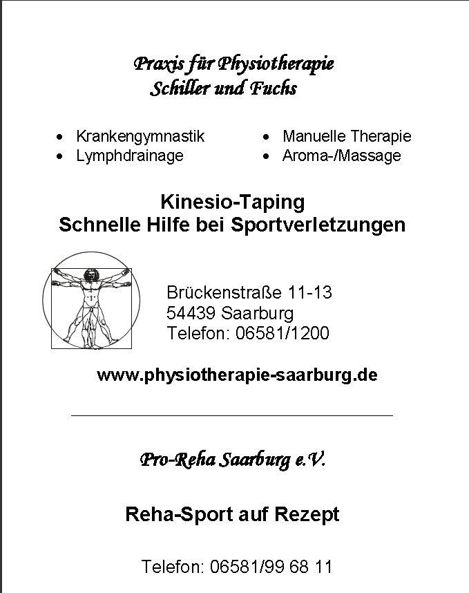 Physiotherapie Schiller + Fuchs, Saarburg